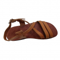 Come to Jesus Leather Strip Sandals