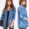 Denim Long Sleeve Loose Vintage Jean Jacket