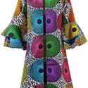 Tailor Made African Print Design Colorful Jacket / Top -Dress