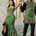 For Him & For Her Tailor Made African Print Design Matching Outfit 12