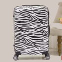Zebra Stripes Trolley Suitcase