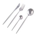 24 piece Stainless Steel Cutlery set – Silver