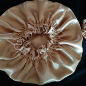 Gold Only Reversible Satin Bonnet