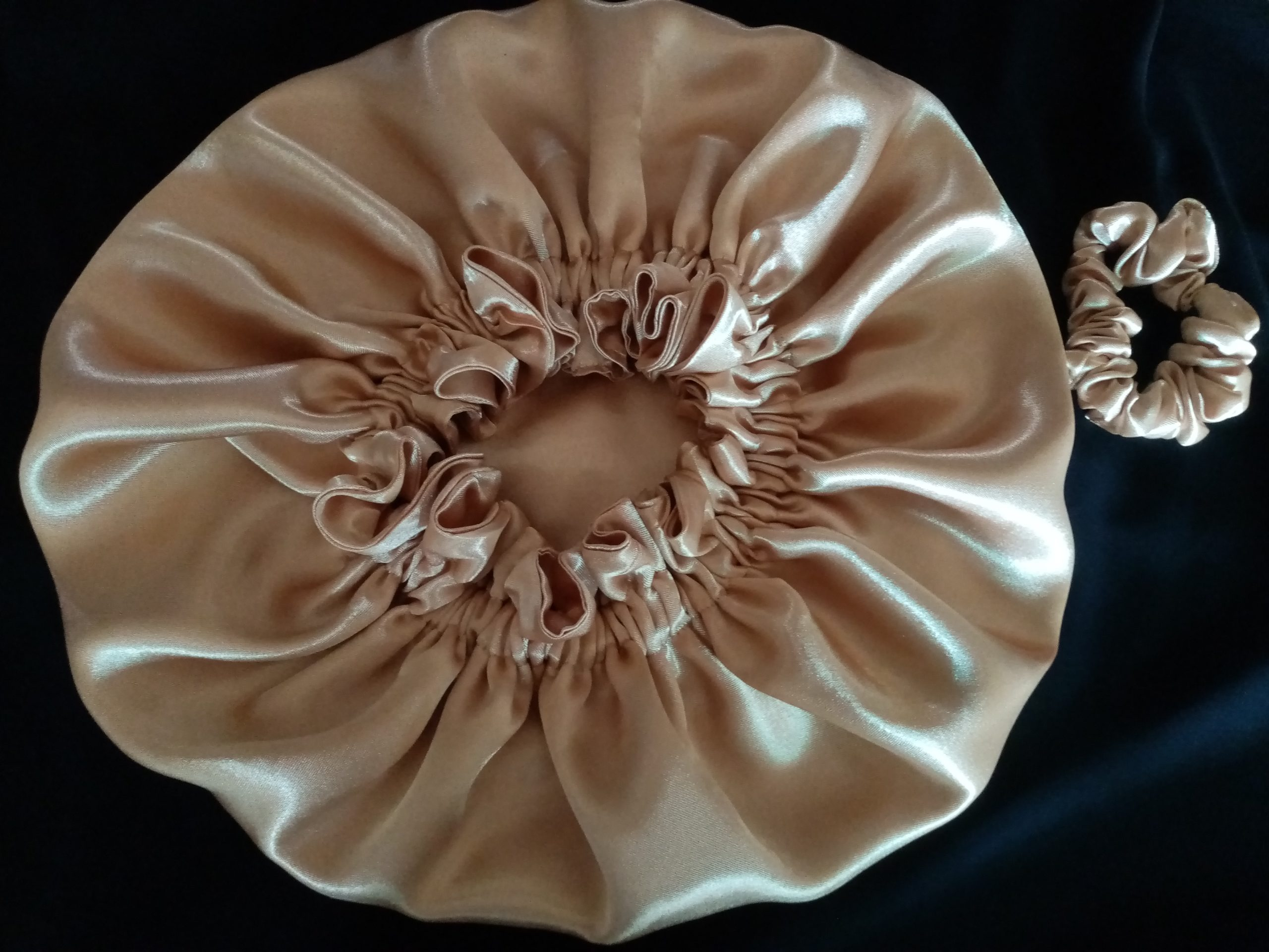 Gold Reversible Satin Bonnet