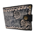 Leather Zip less Wallet – Painted Black