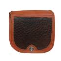 Leather Ostrich Handbag