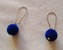 Thamina's short velvet earrings
