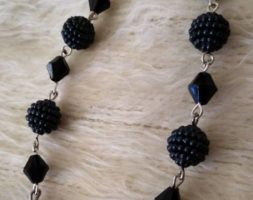 Thamina's long diamond berry earrings