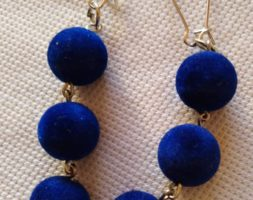 Thamina's royal blue earrings