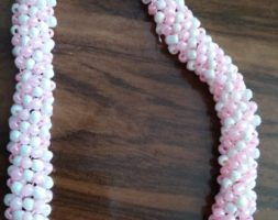 Baby pink and white necklace