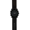 80741 – Matt Black Plated Analogue And Digital Watch