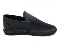 Black Leather Smart Vellies