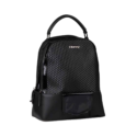 880165 – Black PU backpack