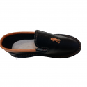 Folded Brown Leather Smart Vellies