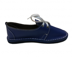 Leather Fency Shoes – Blue