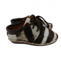 Folded Safari Zebra Leather Shoes