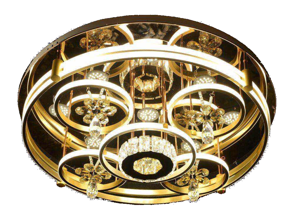 Golden stainless steel Round Chandeliers product code: TTE 9865