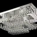 Clear-Crystal-Elegant-Chandelier- Double mirror base ceiling