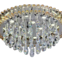 Clear-Crystal-Round Hanging chandeliers-
