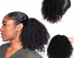 Kinky Curly Ponytail Extension