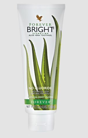 Forever Bright® toothgel combines aloe vera with natural ingredients for clean teeth, fresh breath and refreshing flavor. Our formula is fluoride-free so your whole family can enjoy the combination of natural peppermint and spearmint with a frothy texture that will leave your mouth feeling fresh and clean.