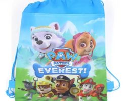 Paw Patrol Everest Cartoon Non – Woven Fabrics Drawstring Bag