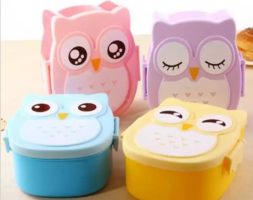 Cartoon Owl Lunch Box Meal box for Kids