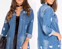 Denim Long Sleeve Loose Vintage Jean Jacket