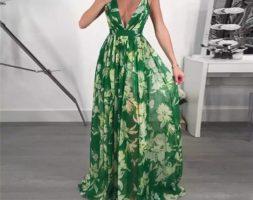 Floral Printed Maxi Boho Beach Party Dress