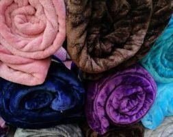 Gentle Flannel Thick Plain Blanket Throw