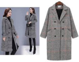 High Quality Woolen Long Loose Coat for Women
