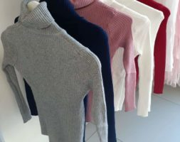Ladies Soft Fine Knitted Polo Neck Turtleneck Winter Casual Office Long Sleeved Sweater