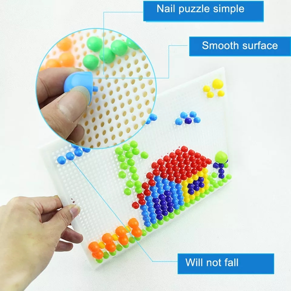 Kids Mosaic Pegboard Educational Puzzle Learning Toy - Yor ...